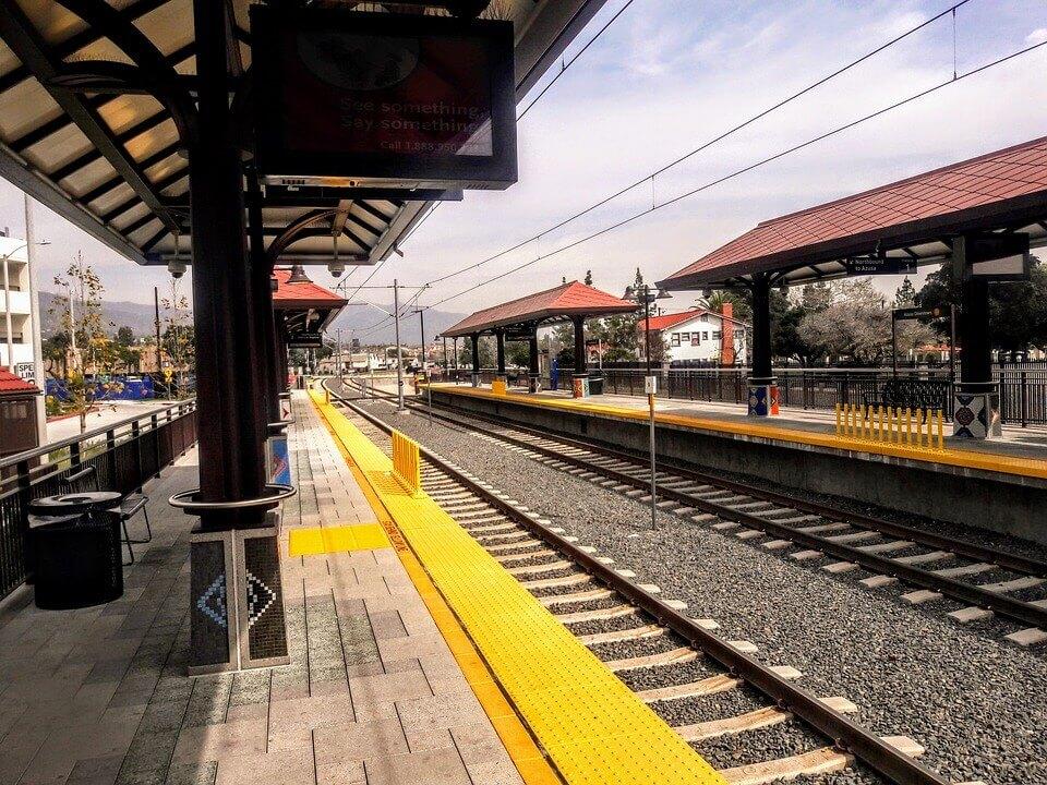 Metro Gold Line station in Azusa