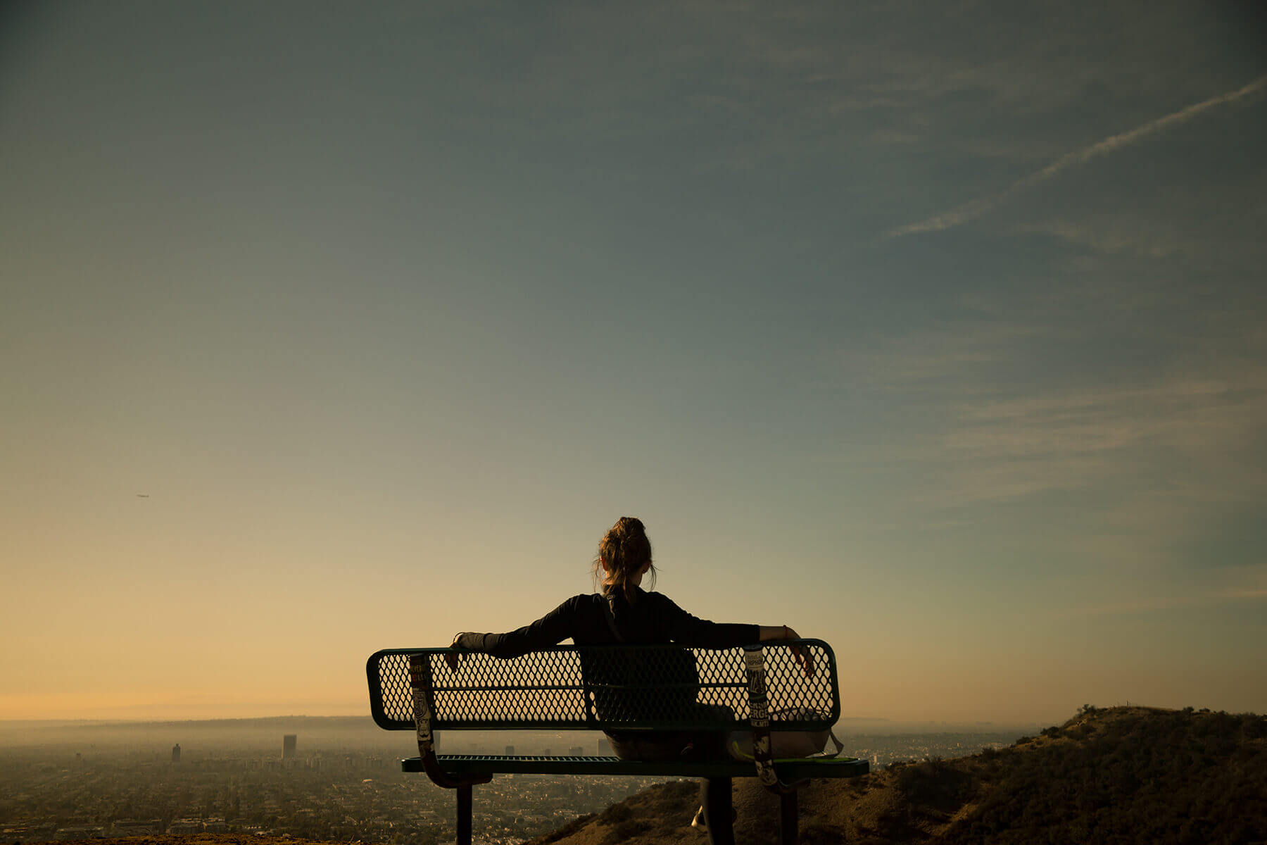 Woman on a Mount Top.