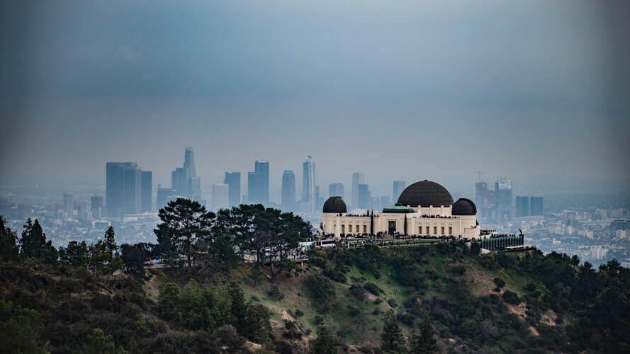 City skyline and Griffith Observatory