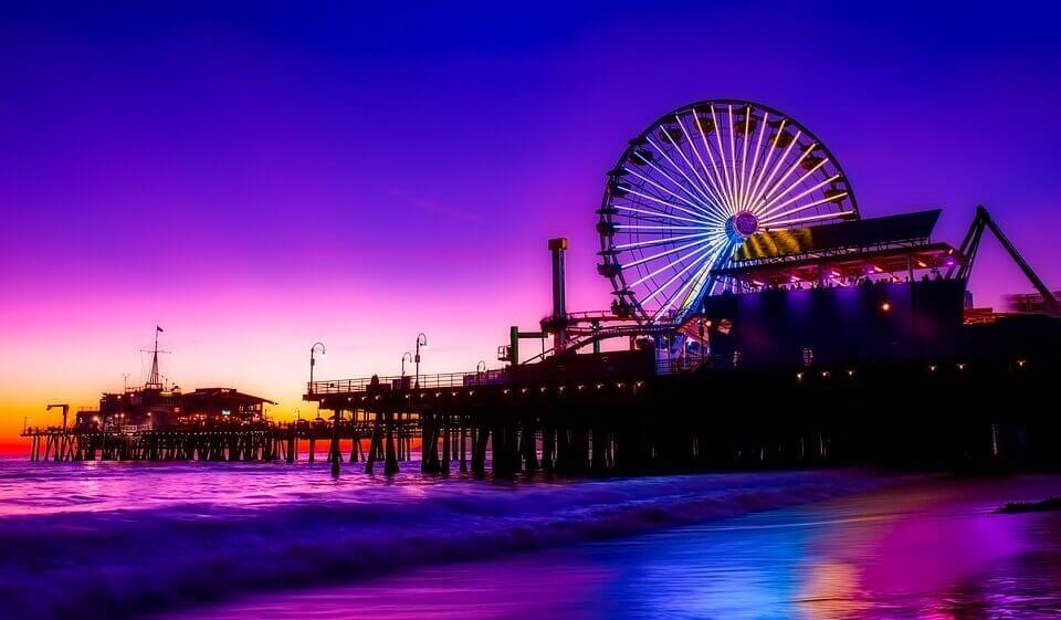 Amusement park at the beach