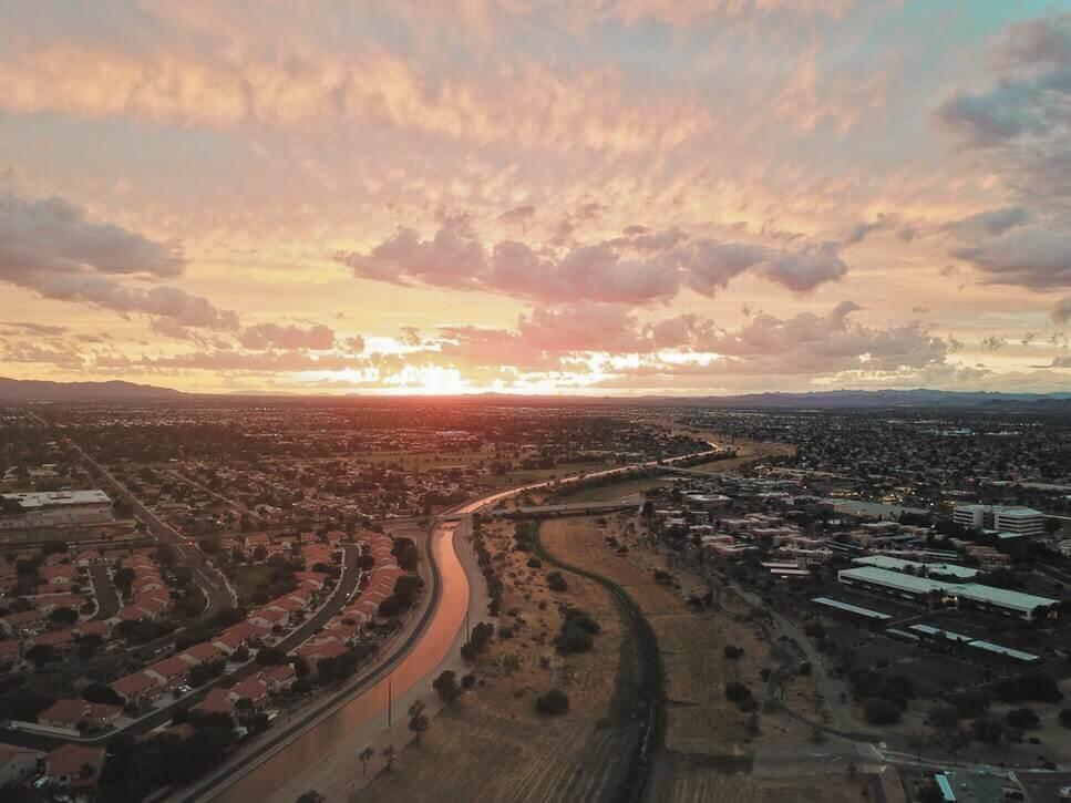 Sunset in Glendale