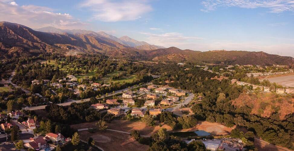 A bird's eye view of La Verne