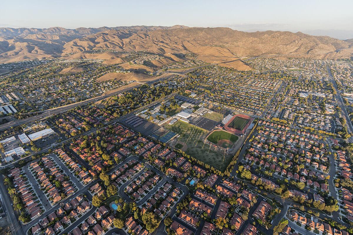 Suburban area on the West Coast
